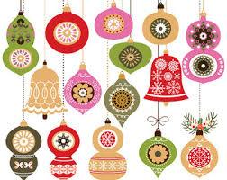 digital watercolor clipart christmas ornament watercolor