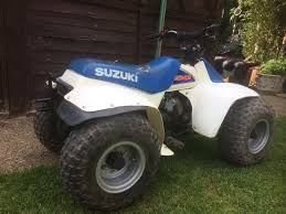 suzuki lt50 kids 50cc quad bike white u0026 blue motorbike 450