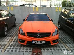 orange mercedes mercedes benz sl 65 amg r230 2009 7 august 2013 autogespot