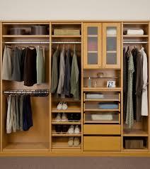 simple design natural clothes storage inside wardrobe wardrobe