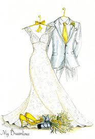 custom wedding dress sketch made from your photo emmaline bride