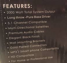 professional home theater system professional home theater system 5 1 channel rs 622 hd speaker system