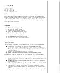 Resume Templates  Financial Administrative Assistant My Perfect Resume