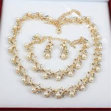 pearl necklace earring images Pearl necklace earring jewelry set cho1st jpg