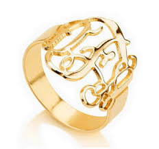 Ring With Initials Online Get Cheap Ring Personalized Initials Aliexpress Com