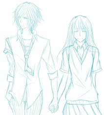 rough sketch random couple by n eru on deviantart