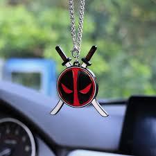 for deadpool fashion car pendant rearview mirror ornaments auto