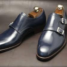 handmade men tan color monk shoes men dress shoes mens formal