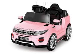 pink toy jeep powered 6v pink evoque ride on car