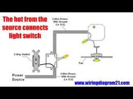ceiling fan wiring diagram installation hampton bay fans youtube