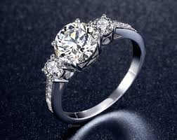 cubic zirconia engagement rings cz engagement ring etsy