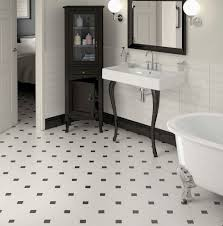 Small Black And White Tile Bathroom Black And White Tile Floor Bathroom With Design Inspiration 9514