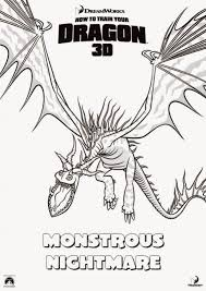how to train your dragon coloring pages monstrous nightmare it u0027s