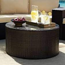 wicker side table with glass top weston outdoor wicker side table with glass top by christopher