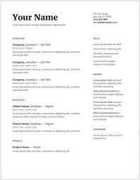 basic resume template australia resume templates free download