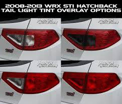sti subaru red 2008 2014 subaru wrx u0026 sti hatchback red tail light tint overlays