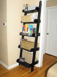 Leaning Ladder Bookcases by Furniture Home Cappuccino Ladder Bookshelf Storage Modern Elegant