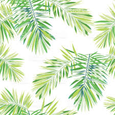 White Flag With Green Leaves Bright Tropical Background With Jungle Plants Seamless Vector
