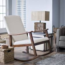 belham living holden modern indoor rocking chair upholstered