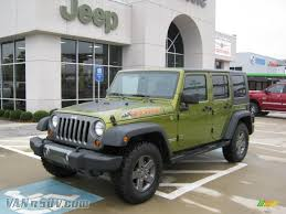 dark green jeep wrangler unlimited 2010 jeep wrangler unlimited mountain edition 4x4 in rescue green