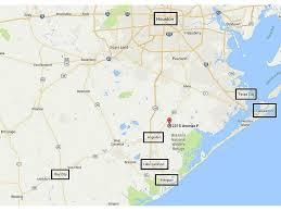 Texas Beaches Map 2015 Avenue F Danbury Tx 77534 Har Com