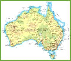 map of roads road map of australia with cities 7 maps update roads large