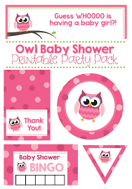 owls baby shower host a pink owl baby shower a to zebra celebrations