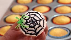 how to decorate spider web cupcakes for halloween youtube