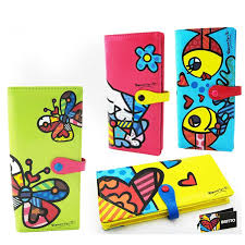 britto garden romero britto large wallet color flower fish heart nwt at amazon