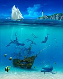 4 sail away under sea jpg 842 1050 stfne creative co shipwrecks boat and underwater sea spectacular images
