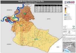 sukkur map pakistan sindh sukkur population density map september 2014