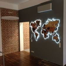 wooden world map wooden steps interiors and room