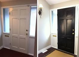 Interior Entry Doors I May Try Painting The Inside Of My Front Door Black To Match The