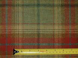 Red Plaid Upholstery Fabric Wool Tartan Plaid Red Green Fabric Curtain Upholstery