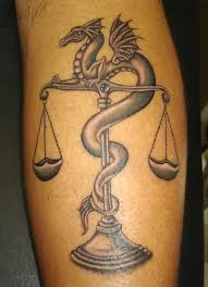25 libra scale tattoos with calming and balanced meanings