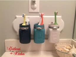 bathroom craft ideas diy jar toothbrush holder hometalk