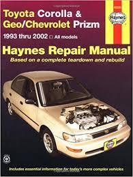 1993 toyota camry repair manual toyota corolla geo chevrolet prizm automotive repair manual