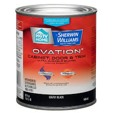 shop hgtv home by sherwin williams ovation black high gloss latex
