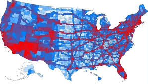 visited states map the united states most visited counties in one map