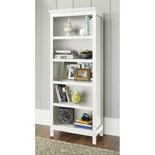 white bookcase mainstays 5 shelf bookcase alder walmart com