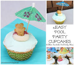 kitchen floor crafts easy pool party cupcakes u0026 pool party ideas