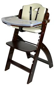 Dining High Chairs Abiie Beyond Wooden High Chair With Tray The