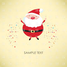 pastel card with santa claus vector clipart image 22880