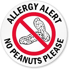 peanut safety signs food allergy safety signs