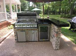 simple outdoor kitchen island with grill laredoreads