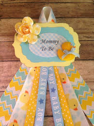 baby shower duck theme rubber ducky theme to be corsage blue yellow theme