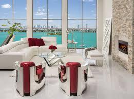 Modern Dining Room Sets Miami Grace Sofa Meets Aviator Chairs Modern Living Room Miami