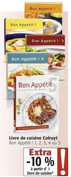 bon livre de cuisine colruyt promotion livre de cuisine colruyt bon appé 1 2 3 4