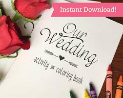 wedding coloring book printable download children kids