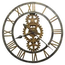 Decorative Metal Wall Clocks Furniture Agatha Howard Miller Wall Clocks With Roman Numerical